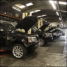 Range rover engine factory 1
