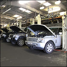 Range rover engine factory 3
